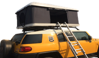 Roof top tent is very convenient to use