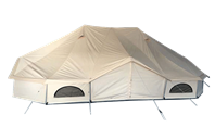 How to use canvas tent correctly