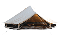 Cautions for the use of canvas tents