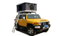 With the roof top tent, a comfortable and pleasant journey!