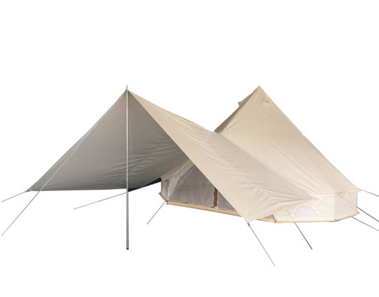 Bell tent awning