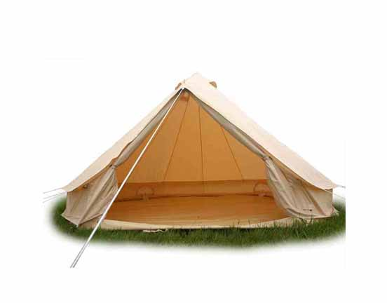 3m bell tent without central poles