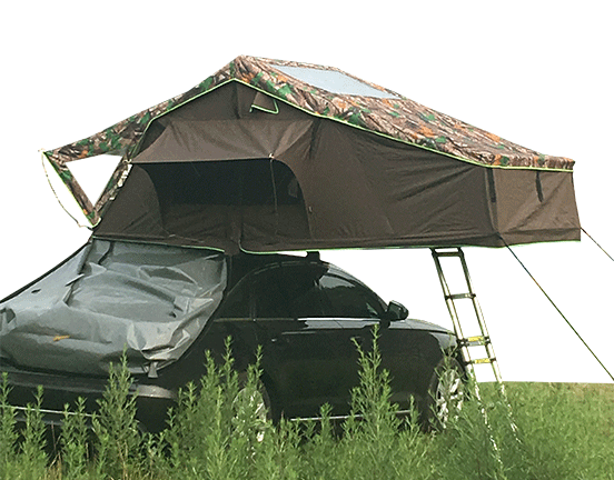 There is A car with A Home - Car Top Tent