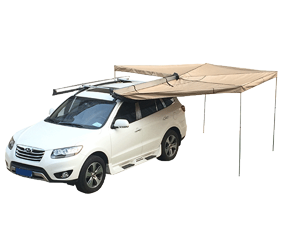 The installation method of car side awning