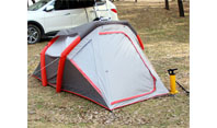 How to compete with strong winds when setting up tents outdoors?